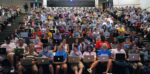 Class with laptops
